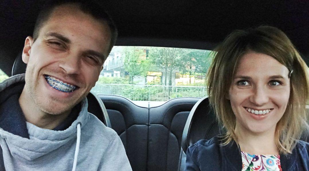 Kasia i Michał w samochodzie