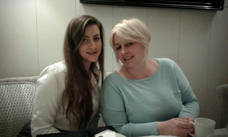 Hania z mamą przed operacją