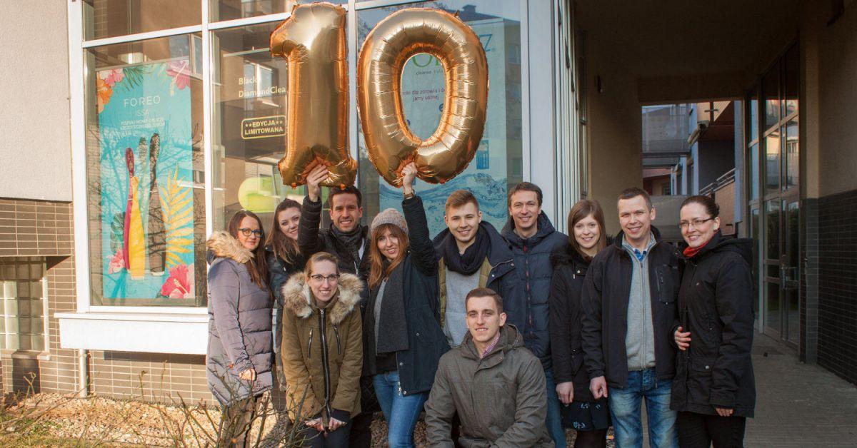 Zespół sklepu HappyDental 10 urodziny